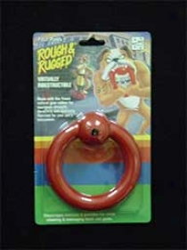Dog Chew Ring With Bell - Red - 4.5