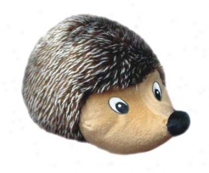 Dog Toy Plush Hedgehog - Brown - 12 Inch