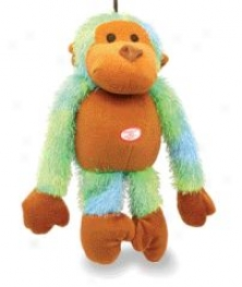 Dog Toy Plush Shaggy Monkey - Assorted - 13 Inch