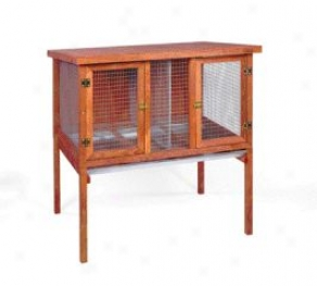 Double Rabbitat Hutch For Rabbits - Red - Large