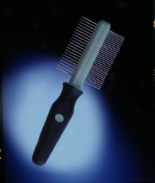 Double Sided Comb For Dogs/cats - Black/gray