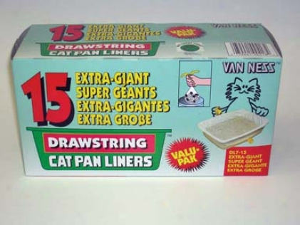 Drawstring Cat Litter Pan Liners - Ivory - Extra Giant - 15pack