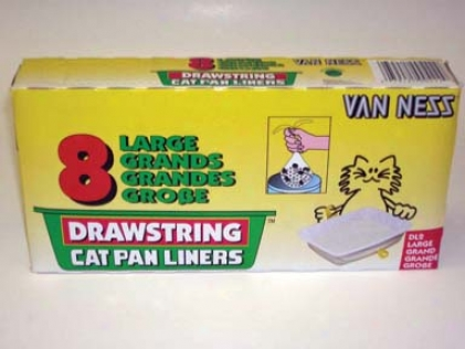 Drawstring Cat Litter Pan Liners - Ivory - Large - 8pack