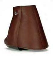 E-z Ride Aluminum Stirrups Wth Leather Cover And Tapadero