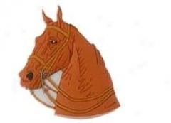 English Horse Head Key Chain - Brown