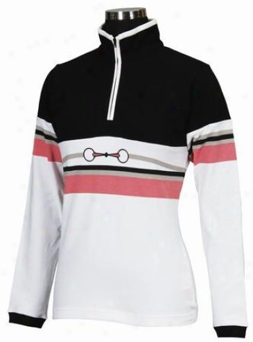Equine Couture Ladies Longsleeve London Zip Neck Polo