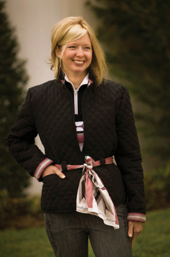 Equine Couture London Quilted Jacket With  Scarf