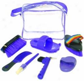 Equine Grooming Kit - Purple - 9 Inch