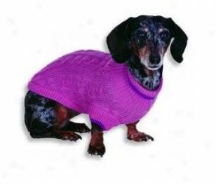 Fashion Pet Classic Cabl eDog Sweater