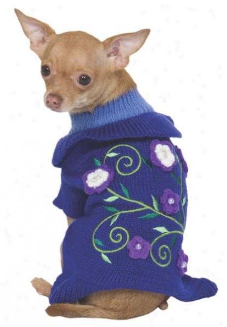 Fashion Pet Periwinkle Garden Dog Sweater