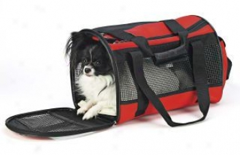 Fashion Pet Travel Harness Carrier - Red - 18long 11tall