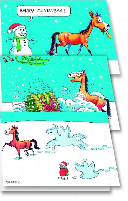 Fergus Humor For The Holidays Cards - 6-pack Assortmet
