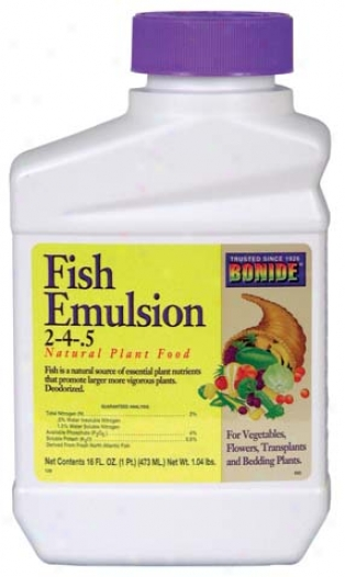 Fish Emulsion Plant Food Supplement - Pint