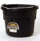 Flat Back Rubber Bucket Df18f - Black - 18 Quart