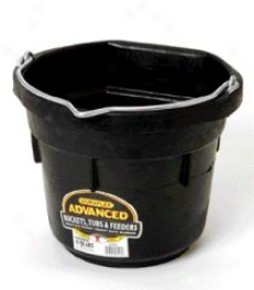 Flat Back Rubber Bucket Df8f - Black - 8 Quart
