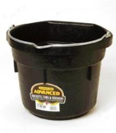 Flatback Soft Bucket Df12fb - Black - 12 Quart