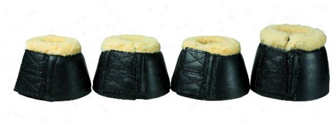 Fleece Bell Boots With Duble Velcro