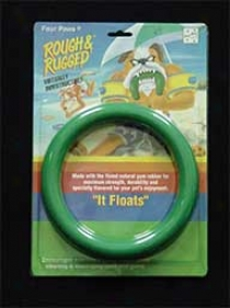 Floating Ring Dog Toy - Green - 7