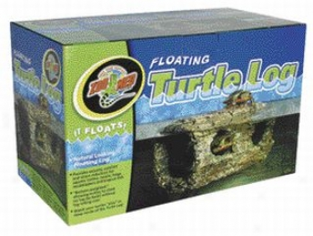 Floating Turtle Log Tank Decoration - Brown