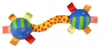 Floppy Barbell Toy For Dog s- Multicolor