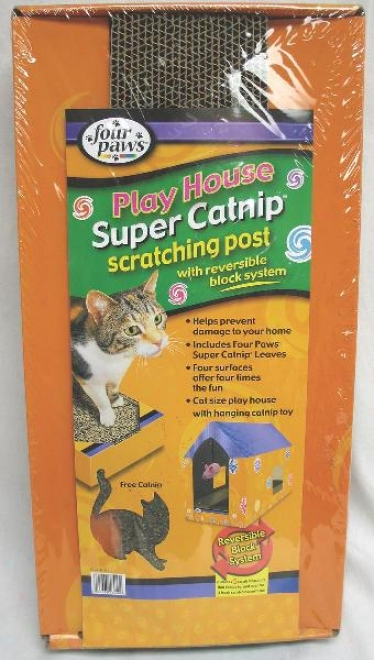 Four Paws Cat Scratching House