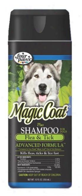 Four Paws Magic Coat Plus Flea And Tick Shampoo For Dogs - 16 Ounce