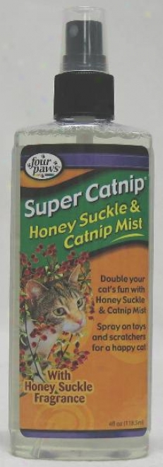 Four Paws Super Catnip Honeysuckle Mist - 4 Ounce