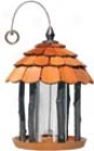 Gazebo Feeder For Birds - Brown