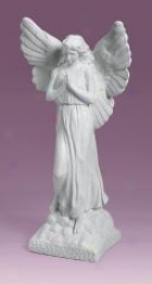 Guardian Angel Garden Sculpture - Cream