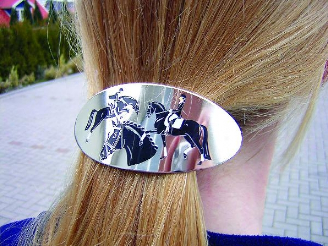 Hair Barrette - 3 Horses Design