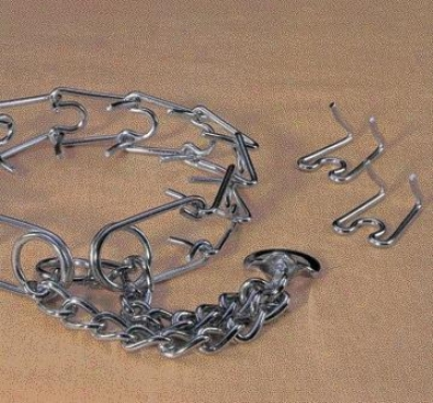 Hamilton Chrome Replacement Chain Training Collar Prong Links