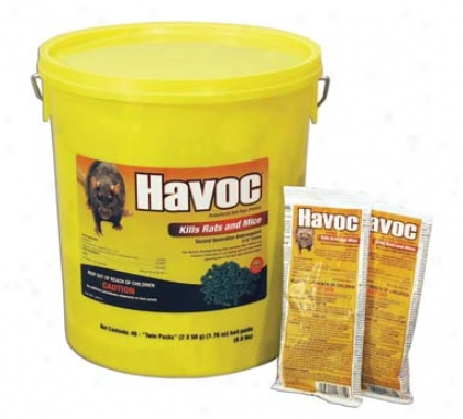 Havoc Twin Packs Pail Rodenticide - 50 Gram