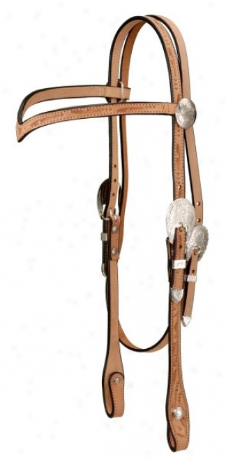 Headstall V Browband Mode of procedure Tooled With Silver