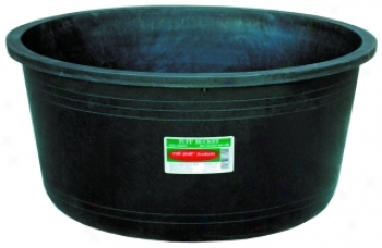 Heavy Duty Round Tub For Animals And Gardening - Black