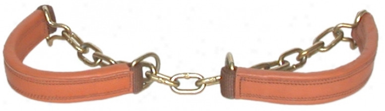 Heavy Leather & Chain Hobble - Brown