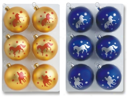Holiday Ornament Ball With Horses
