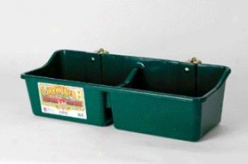 Hookover Feeder With Divider For Livestock - Green - 16 Quarf