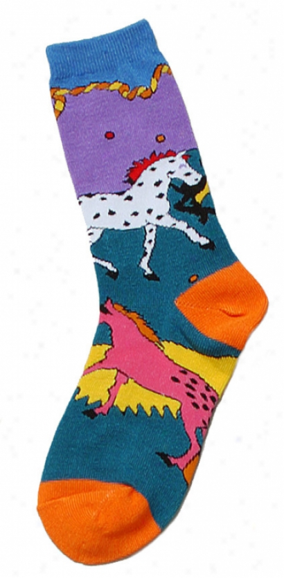 Horse Frolic Fashion Socks - Chjlds