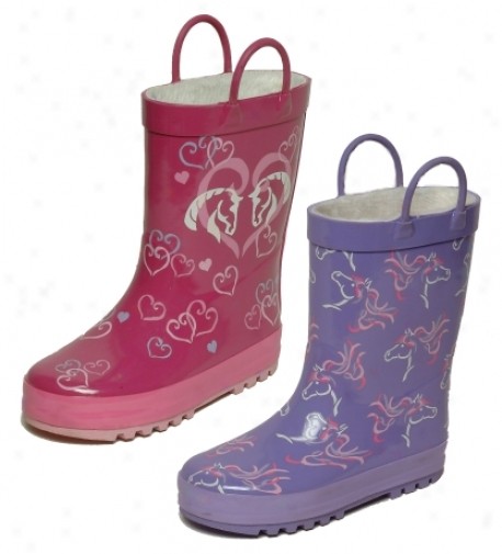 Horse Rubber Boots For Kids