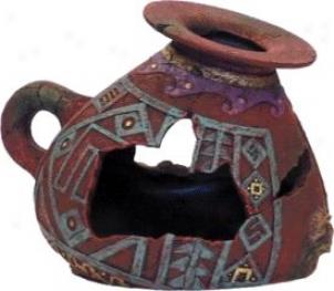 Incan Vase Aquarium Ornament - Multi