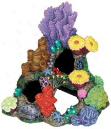 Indonesian Reef Cavern Aquarium Ornament - 9x7x8