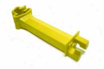 Insulator For T-post - Electric Fencing Materials - Yellow