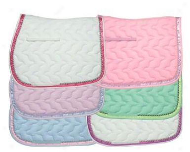 Intc Cotton Ap Saddle Cushion With  Solid Ribbon - 6 Pack - Assorted