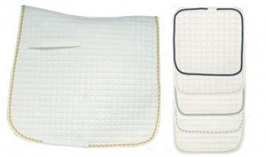 Intec Cotton Comfort Ap Saddle Pads - 6 Pack - White With Assorted Piping