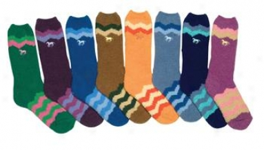 Intec Fuzzy Mid-length Chenille Socks - 24 Pack - Assorted - Ladies One Size