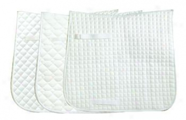 Intec Ultra Cotton Dressage Econoky Saddle Pad - 3 Pack - White In the opinion of White