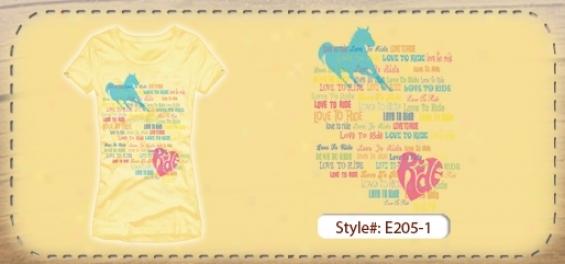 Junior Rainbow Rid eLuxury Cap Sleeve T-shirt