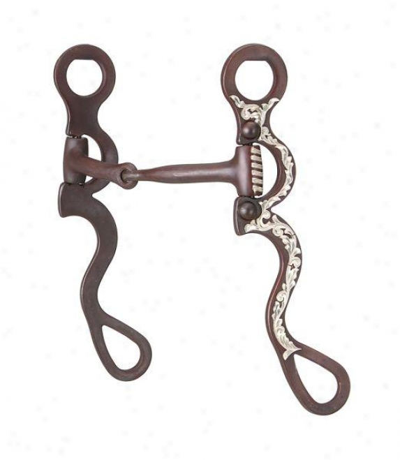 Kelly Silver Star Argentine Show Snaffle - Antique Brown - 5 Mouth