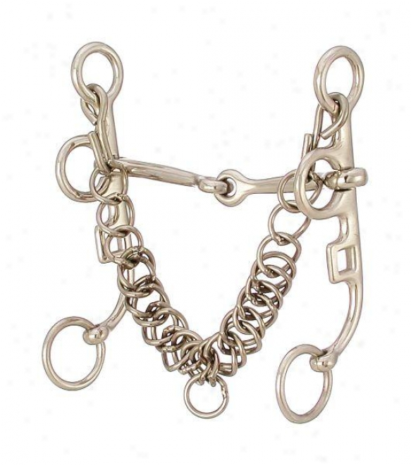 Kelly Silver Star Argentine Snaffle - Stainless Steel - 5 Mouth