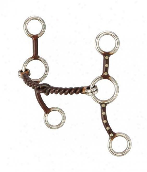 Kelly Slier Star Gag Twist Snaffle - Antique Brown - 5 Mouth